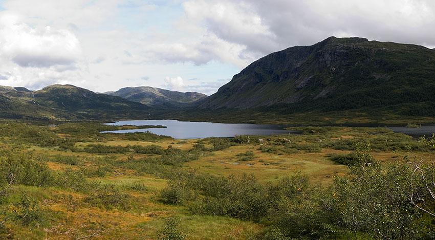 Vøvringevatnet og Kvanngrødfjellet
